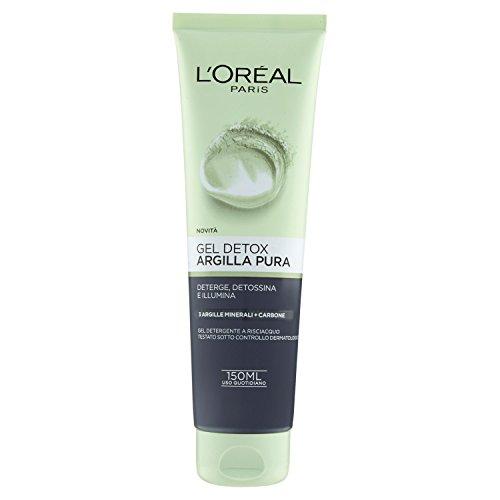 L'Oréal Paris Detergenza Argilla Pura Gel Detox Viso, Deterge, Detossina e Illumina la Pelle, 150 ml