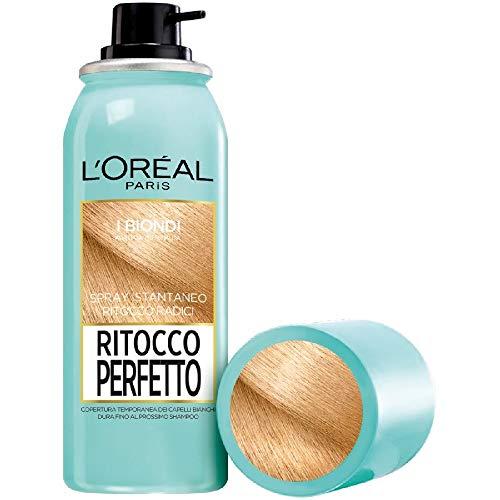 L'Oréal Paris Spray Istantaneo Correttore per Radici e Capelli Bianchi Ritocco Perfetto, Biondo, 75ml