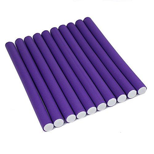 Wendy Hair - Aste flessibili in schiuma di colore viola, lunghezza: 24 cm, 10 pezzi