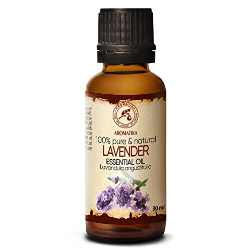 Olio Essenziale di Lavanda 30ml - Lavandula Angustifolia - 100% Puro & Naturale - Aromaterapia - Contro Ansia - Insonnia e Stress - per Insetti & Zanzare - Massaggi - Profumi per la Casa