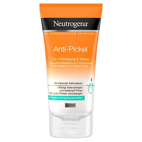 Neutrogena Visibilmente Anti Brufoli 2in1pulizia maschera, confezione da (2X 150ML)