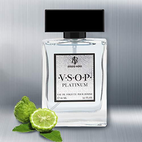 VSOP PLATINUM Eau de Toilette per uomo, 95 ml – NUOVO profumo per lui - La migliore idea Regalo per lui