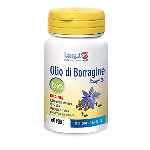 Longlife Olio Di Borragine Bio 500 Mg - 60 Gr
