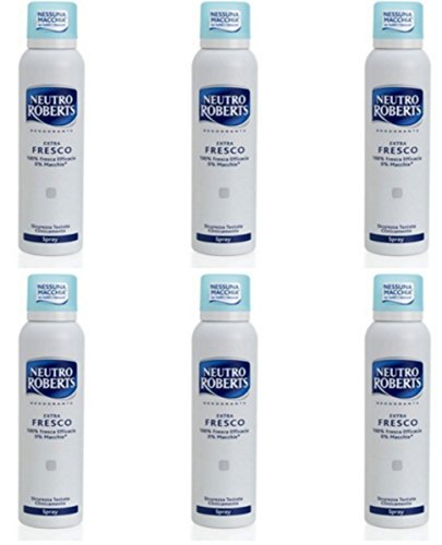 6 X Neutro Roberts spray Extra Fresco Deodorante Corpo offerta in stock
