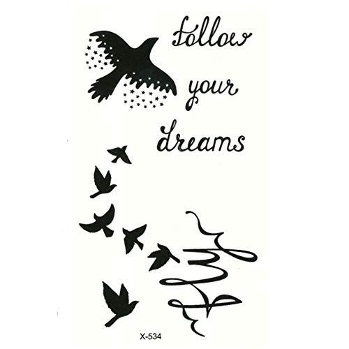 Justfox – Tatuaggio temporaneo a forma di uccellino che segue il tuo design di dreams temporaneo, arte del corpo