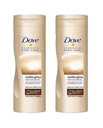 Dove - lozione autoabbronzante graduale'Summer Glow', per pelli da medie a scure, 2 confezioni da 250 ml