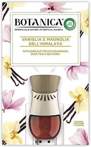 Airwick Botanica Diffusore Elettrico di Fragranza, 1 Kit, Gadget e Ricarica Vaniglia e Magnolia dell'Himalaya