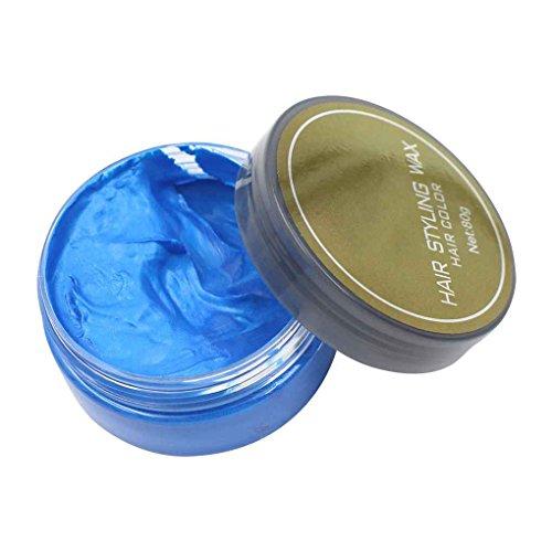 Babysbreath17 5 colori Colorful Hair Styling Dye Un tempo Moulding Immediata Incolla Temporary Cera Burro di fango per il trucco dei capelli blu