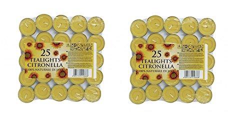 50 Candele di Citronella da Giardino