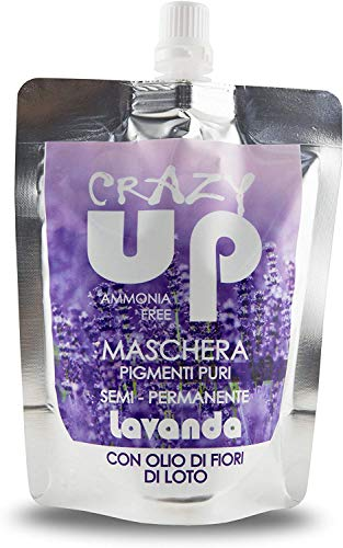 Crazy Up Maschera Colorante Senza Ammoniaca Semipermanente per Capelli - Lavanda - 200 ml