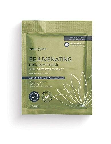 Beautypro ringiovanente collagene maschera foglio con estratto di tè verde