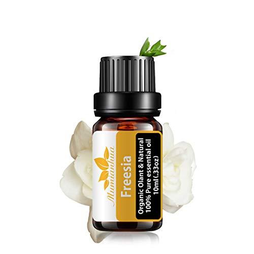 Olio essenziale di fresia Olio organico 100% puro per aromaterapia Fresia Mumianhua 10ml Oli profumati alla fresia floreale per diffusore, umidificatore, pelle, produzione di sapone, casa