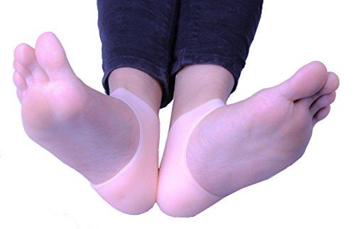 1pair Gel Tacco Manicotto Idratante Silicone Tacco Caviglia Manicotto per Sollievo dal Dolore (Pelle)