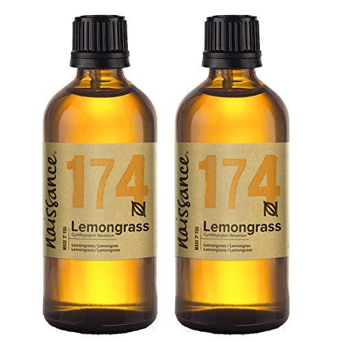 Naissance Olio di Lemongrass, Flexuosus - Olio Essenziale Puro al 100%, Vegano, senza OGM - 200ml (2x100ml)
