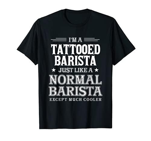 Barista Tatuato Tatuaggi Creatore Caffè Espresso Arabica Maglietta