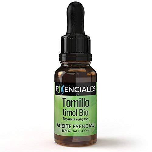 Essenciales – Olio Essenziale di Timo Timolo BIO, 100% Puro e Naturale, con Certificato Ecologico, 30 ml | Olio Essenziale di Thymus Vulgaris