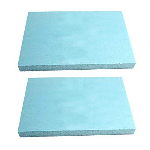 mmasport Gomma Piuma per Imbottitura Schiuma espansa per Cuscini divani sedie Pallet da Giardino Protezione imballaggio modellismo densità 30 kg/m3 (30x20x1 cm (x 2 Pezzi), Azzurro)