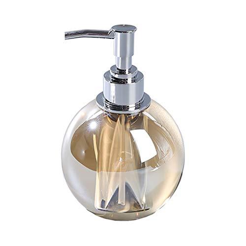 RWX Dispenser di Sapone di Cristallo di Alta Classe, ingombro Olio Essenziale Gel Doccia, for Bagno Soggiorno lozione Bottiglia, Ambra (Color : Amber)