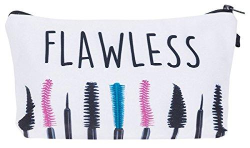 kukubird Girls Printed Make Up Bag Wash Bag Toiletry Cosmetics Wallet Pencil Pen Holder Organiser Pouch Case - Flawless Eyebrush
