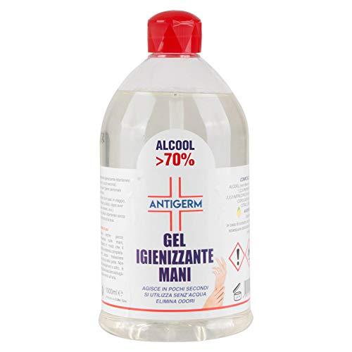 MTEC ELECTRONICS Gel Igienizzante Mani 70% Alcool Alcol Antigerm - 1 L