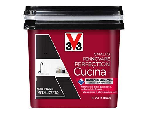 V33 Smalto Rinnovare Perfection Cucina Nero Quarzo Metallizzato 0.75 l