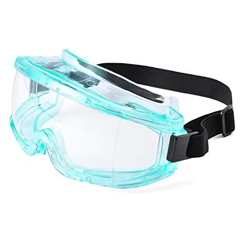 SAFEYEAR Occhiali Protettivi da Lavoro Uomo Trasparenti con Lenti antiappannamento - SG031 Laboratorio Chimico Antiappanno Occhiale Protettivi Occhiali Di Per Protezione UV CE EN166 Colore