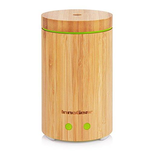 InnoGear Vero Bambù Diffusore di Oli Essenziali Diffusori di Aromaterapia 160 mL ad Ultrasuoni Senz'acqua Spegnimento Automatico