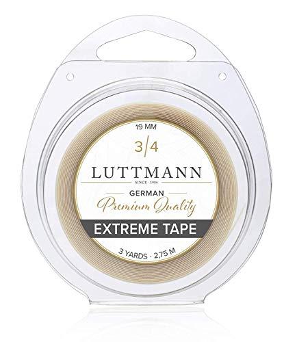 LUTTMANN® Extreme Tape - 19 mm Premium Quality Extreme Hold nastro adesivo Lace front trasparente per sistemi di capelli, parti di capelli, parrucche, Toupets & Extensions