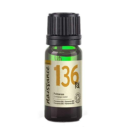 Naissance Olio di Palmarosa Biologico - Olio Essenziale Puro al 100% - 10ml