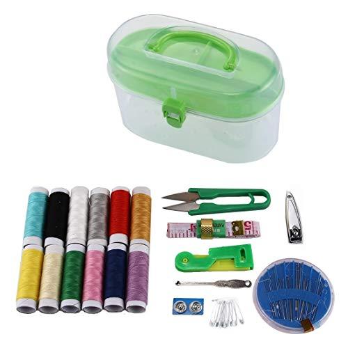 Home Decor Multi-colorline Needle Wearer Nastro Ear Spoon Etc Treasure Box necessità Casuali .per la Camera da Letto della Camera da Letto del Soggiorno (Color : Green)