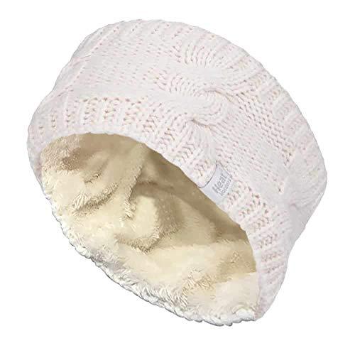 HEAT HOLDERS - Donna Fascia per Capelli in Maglia per Invernale/Inverno (One Size, Cream (Headband))