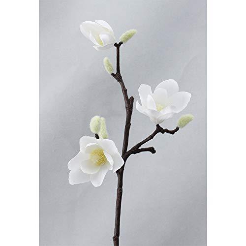 Barley33 3D Ramo di Magnolia di Seta Fiori Artificiali Fiore Finto di Alta qualità per Matrimonio Decora la Decorazione Domestica Accessorio per Feste