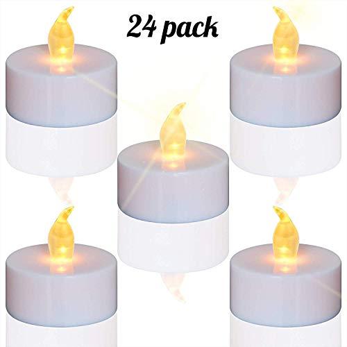 Candele a LED, portò candele flickering flameless candele,24pcs