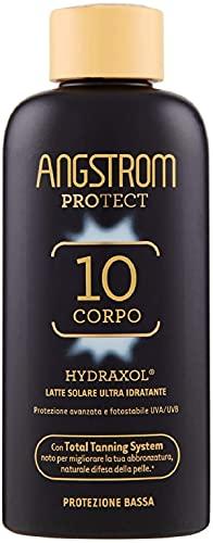 Angstrom Protect Latte Solare Ultra Idratante, Protezione Solare 10+ con Azione Nutriente e Prolungata, Indicata per Pelli Sensibili, 200 ml