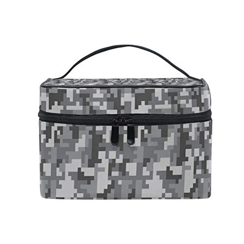 Borse per cosmetici Travel Makeup Cosmetic Bags Digital Desert Camo Toiletry Bags Makeup Suitcase For Women Travel Daily Carry
