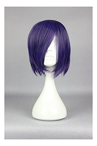 Cosplaza, parrucca del personaggio anime Touka Kirishima (Tokyo Ghoul) per cosplay, taglio corto, colore viola scuro
