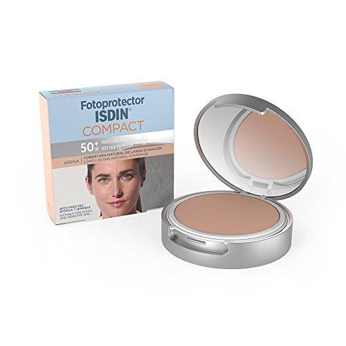 Fotoprotector ISDIN Compact Arena SPF 50+ 10g | Copertura naturale a lunga durata | Adatto per tutte le tipologie di pelle