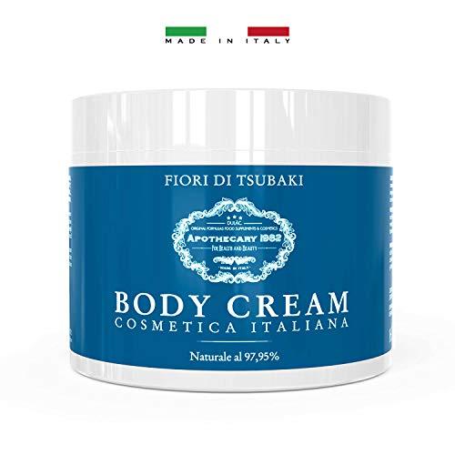 Dulàc - Body Cream Cosmetica Italiana - 500 ml - Crema Idratante Corpo ai Fiori di Tsubaki - la tua pelle levigata, vellutata, rassodata, idratata - Naturale al 97,95% - Apothecary 1982