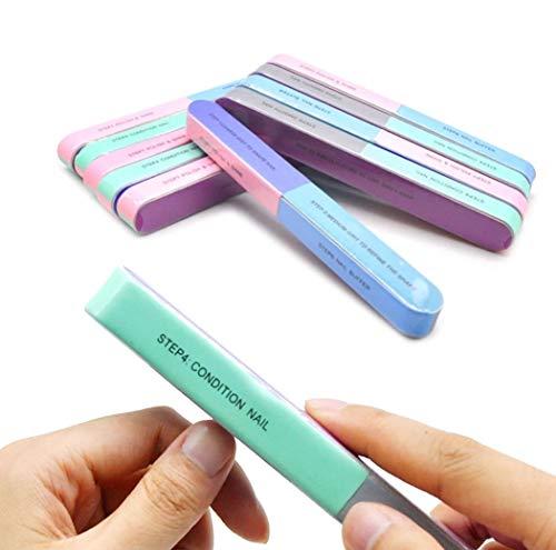 6 blocchi di lucidatura professionali con 7 superfici di lima e lucidatura, nuovo design buffer per unghie lucide