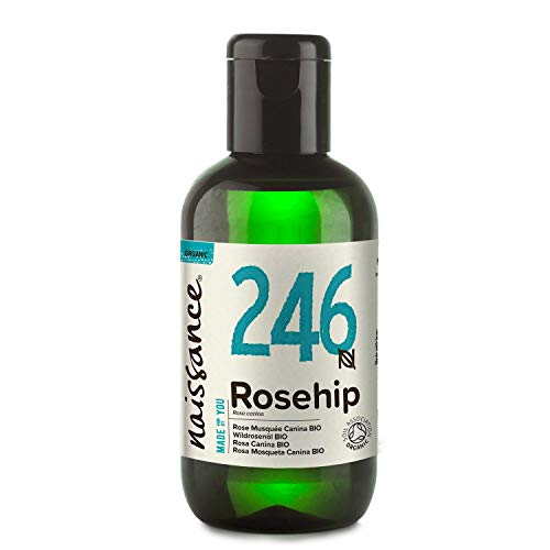Naissance Olio di Rosa Canina Certificato Biologico 100ml – Idratante, Nutriente ed Emolliente per tutti i tipi di pelle – Utile per viso, capelli e unghie