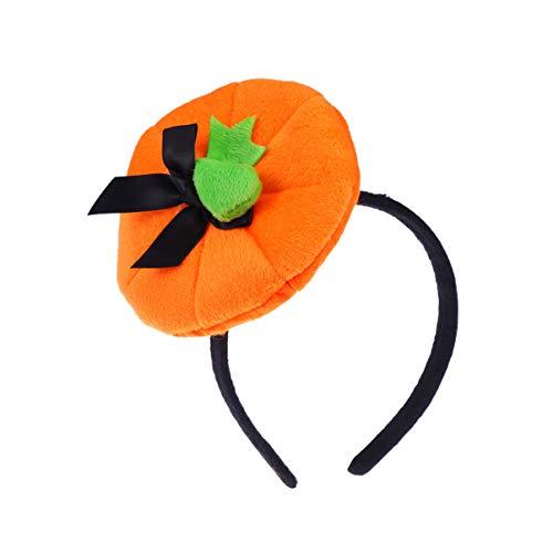 Amosfun, cerchietto per capelli a forma di zucca per Halloween, accessorio per capelli per feste in maschera, cosplay, feste di Halloween 1 pezzo Orange