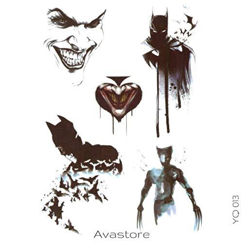 Tatuaggio Temporaneo Batman, Joker e Wolverine–avastore