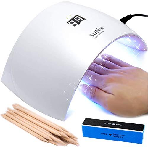 SUN 9S 2021 Lampada LED UV Fornetto Unghie con Timer Automatico e Sensore Movimento da 24W Professionale per Manicure e Pedicure Forno Asciuga Smalto Nail Art per Semipermanente e Ricostruzione Gel