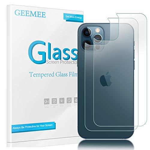 GEEMEE Back Pellicola Protettiva per iPhone 12/iPhone 12 PRO 6.1 2020, 2 Pack Durezza 9H Copertura Completa Protezione Schermo Vetro Temperato Anti Graffi Protector -Transparente