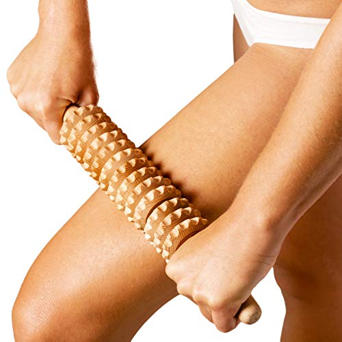 Tuuli Accessories Anti Cellulite Rullo Massaggiatore Massaggio Anticellulite Maderoterapia Legno 40 cm