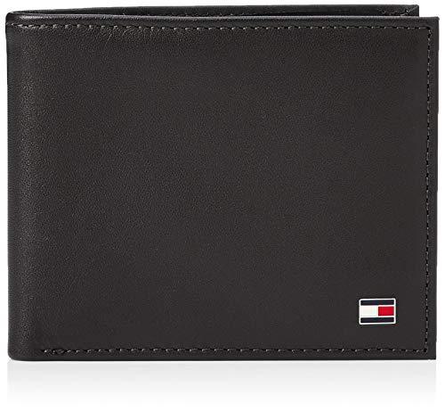 Tommy Hilfiger Eton Mini CC Wallet, Portafoglio Uomo, Nero (Schwarz (Black 002), 11x9x2 cm (B x H x T)