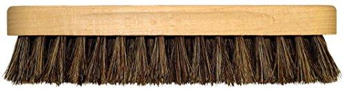 DELARA Spazzola per lucidatura, Grande, in Legno, con Manico Sagomato; setole morbide in crine di Alta qualità; Colore: Marrone