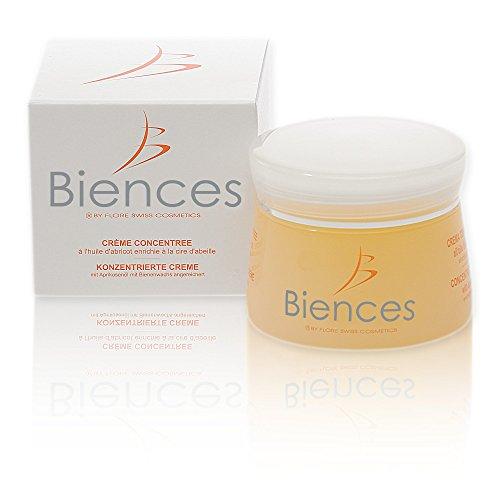 BIENCES - Swiss Cosmetics - Crema Idratante Concentrata all' Olio di Albicocca-Fabbricazione Svizzera-adatto a tutti i tipi di pelli. Vaso di 50ml. Sciroppi