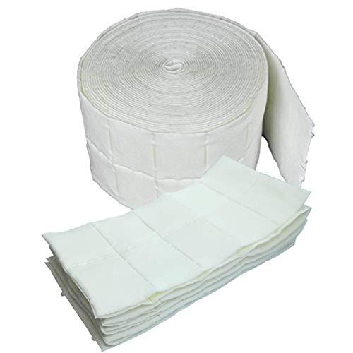 Rotolo di 100 salviette tampone in cellulosa per pulizia senza residui