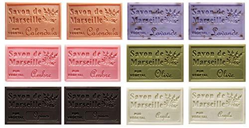 Stock 12(dodici) pezzi Originale Saponetta Naturale di Marsiglia profumazioni miste 12 pezzi x 125 g = 1,5 kg